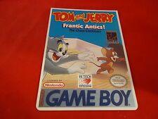 Tom & Jerry Frantic Antics Nintendo Game Boy Vidpro Promotional Display Card ONL