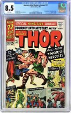 S444. JOURNEY INTO MYSTERY ANNUAL #1 Marvel CGC 8.5 VF+ 1965 1st App of HERCULES