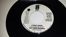 THE THREE DEGREES I Didn't Know PHILADELPHIA INTERNATIONAL 3561 PROMO 45 7""