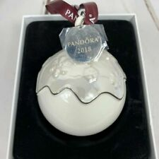 PANDORA Authentic 2018 Christmas Porcelain Snowball Ornament Limited Edition