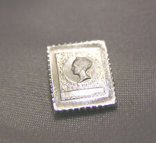 SOLID SILVER STAMP NETHERLANDS 1926 NINE-CENT QUEEN WILHELMINA VALUE OMITTED