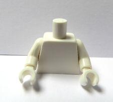 LEGO 1 Plain Body Busto Per Donna Ragazza Ragazzo Uomo minifigura whitehands Bianco