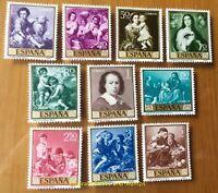 EBS Spain España 1960 Painting (III) Murillo; Stamp Day 1167-1176 MNH**