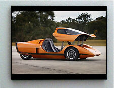 Rare Framed 1969 Hurricane Concept Car Vintage Photo. Giclée Print
