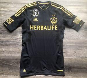 Adidas MLS LA Galaxy Third Shirt 2012-2013 Player Version Sz 6 Black Gold