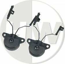 Airsoft fma ussf ops bump helmet rail adaptateurs set noir pour peltor casque