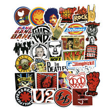 52Pcs Vinyl Rock Band Stickers Luggage Stickers Car Wall PC Bike Fridge Decals
