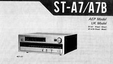SONY ST-A7 ST-A7B SERVICE MANUAL BOOK INC SCHEM DIAGS IN ENGLISH FM STEREO TUNER