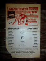 1966/67 Football Programme: Manchester United Res. v Derby County Res. - 8th Apr