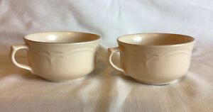 Pfaltzgraff Stoneware REMEMBRANCE Handled Soup Stew Bowls (2)