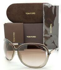 New Tom Ford Raquel sunglasses FT0076/S 38F 58mm Transparent Brown Gradient 0076