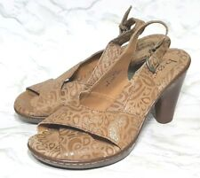 Born B.O.C. Womens Floral Print Leather Slingback Shoes Size 9