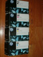 2016 HP-80 ink cartridges.Black,Cyan,Magenta,Yellow C4871A,C4846A,C4847A,C4848A