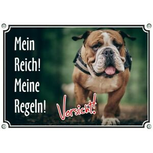 Beautiful Dog Sign - English Bulldog - Warning Sign High Quality - From Me