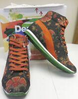 Desigual Authentic Women's Canvas Floral Denpasar Sneaker Shoes 28ks373-4029