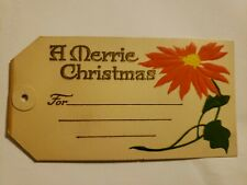 24 1900s Embossed Christmas Gift Tags.A Merrie Christmas Nos, Rare Antique