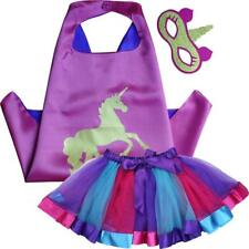 Pink Unicorn Superhero Cape, Mask & Tutu Skirt