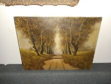 Large old oil painting,{ Landscape with trees,  signed Verheul }. Is antique !