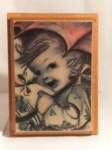 "Vintage MAPSA Wooden Music Jewelry Box, Swiss Movement Music Box ""Superstar"""