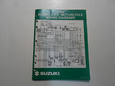 1992 Suzuki Motorcycle A.T.V. N Models Wiring Diagrams Manual MINOR STAINS OEM