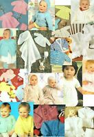 125 BABY PATTERN KNITS - ALL LISTED IN PICS/ INDIVIDUAL PDFs ON DVD