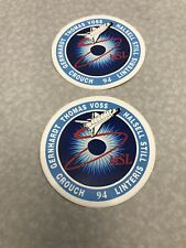 Nasa STS-94 Space Shuttle Columbia Memorabilia Lot Stickers KG CR21