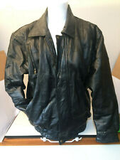 Men's Black Leather Jacket XL size with Medium length arms