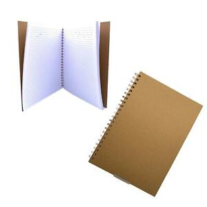 Hard Cover Spiral Notebook A4 Cover Brown, 50 Sheets Perfect for Travel School
