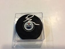Ryan Nugent Hopkins Signed Edmonton Oilers Hockey Puck Autographed i