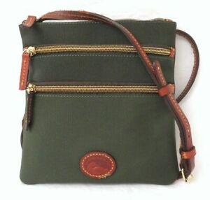 Dooney & Bourke Dark Green Nylon Crossbody Bag Purse