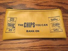 VINTAGE COLLECTIBLE ZIPPERED LAYS RUFFLE POTATO CHIP BANK BAG MONEY COIN DEPOSIT