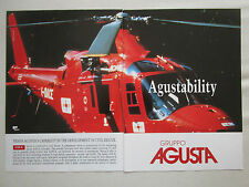 12/1990 PUB AGUSTA A109 K2 CIVIL RESCUE HUBSCHRAUBER HELICOPTER ORIGINAL AD