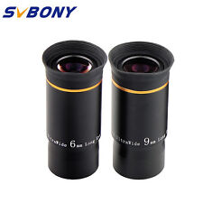 "1.25"" 31.7mm Fully Multi-Coated 6mm+9mm U/W Angle Eyepiece Set for Telescope TOP"