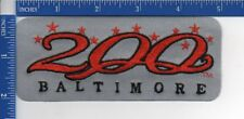 Authentic MLB- Baltimoore Orioles City 200 Anniversary on Gray 1993 patch NOS
