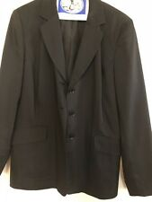 Focus 2000 3 Piece Women's Black Pinstripe Suit, Blazer, Pants, & Skirt Size 10
