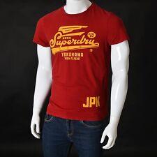 SUPERDRY Vintage Mens Universal Tee SHIRT Medium Cherry Shorts SLeeve Crew Neck