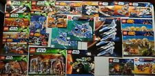 Lego Star Wars Instruction books lot 25 9499 9525 7930 75005 75052 75017 unused