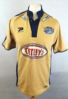 PATRICK LEEDS RHINOS Mens Rugby League Shirt S Small Gold Polyester