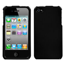 For Apple iPhone 4S/4 Solid Black Phone Protector Case Cover