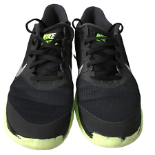 NIKE FREE 4.0 V2 Black Green White Flyknit Running Shoes Trainers Mens Size 8