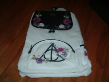 LOUNGEFLY HARRY POTTER DEATHLY HALLOWS FLORAL SLOUCH BACKPACK~ WITH TAGS~ NEW~