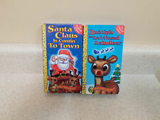 Vintage Rankin Bass VHS, Rudolph & Santa Claus is coming to Town, nice!