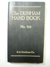 C. A. Dunham Company Heating System ASBESTOS Covering Cement Valve Gaskets 1935