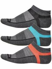 Saucony Inferno Merino Wool 3-Pack Low Cut Running Socks, Small, Grey/Blue/Red