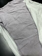 Restoration Hardware Linen Twin Sized Bed Skirt Purple Lilac Baby Child Teen
