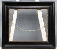 Bilderrahmen Antik Schwarz Schleiflack Antique Antik um 1900 45 x 38,5 cm