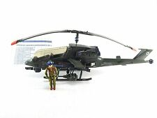 GI Joe 1983 Dragonfly Helicopter w Wild Bill Blueprints Vintage Complete Hasbro