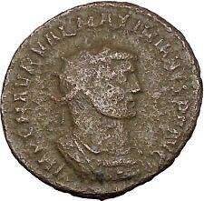 Maximian  Antioch Ancient Roman Coin Hercules gives Victory to Jupiter  i50686