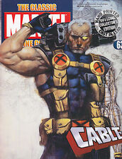 Classic Marvel Figurine Collection #63 CABLE w/Magazine FREE USA SHIP