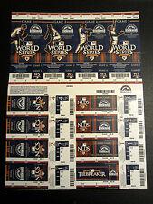 Colorado Rockies 2010 Phantom Playoff Postseason Uncut Sheet Unused Ticket Stub
